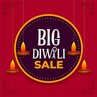 Gran pancarta decorativa de la venta del festival de diwali
