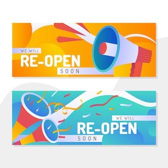 Gran reapertura de diseño de banner