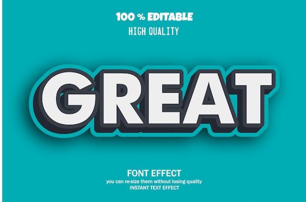 Gran texto, efecto de fuente editable