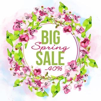 Gran venta de acuarela primavera con descuento