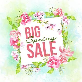 Gran venta de acuarela primavera