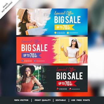 Gran venta de cubiertas de facebook