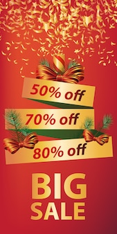 Gran venta de diseño de banner. galleta de navidad