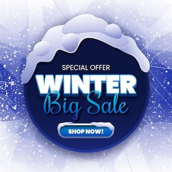 Gran venta de invierno en grietas de hielo