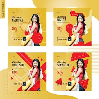 Gran venta de moda diseño de publicaciones en redes sociales
