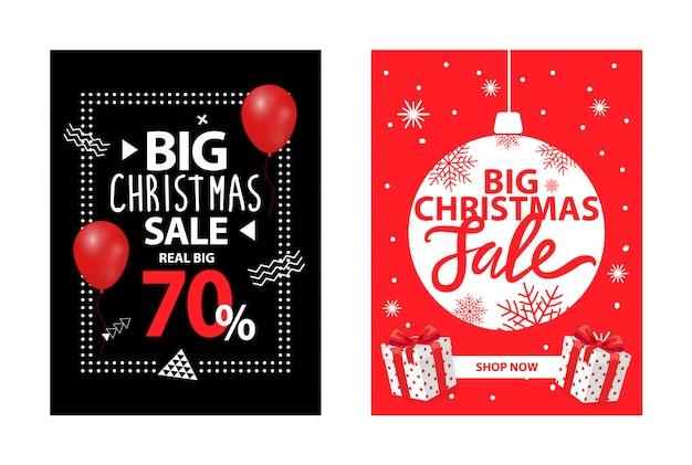 Gran venta de navidad hasta 70 por ciento de descuento en el folleto