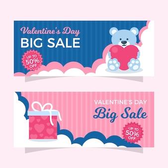 Gran venta de oso de peluche y plantilla de banner de regalo