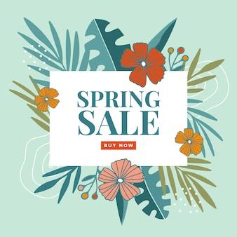 Gran venta de primavera dibujada a mano