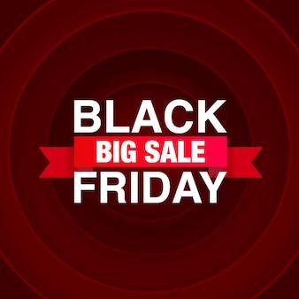 Gran venta del viernes negro, ventas de banners de temporada. ilustración vectorial