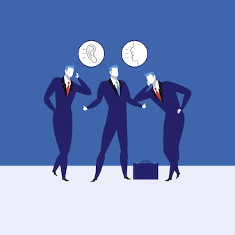 Grandes habilidades de comunicación concepto ilustración vectorial.