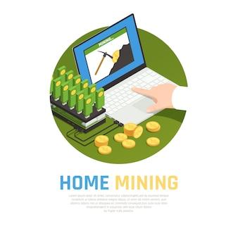 Granja minera casera