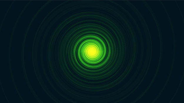 Green comic spiral black hole en soft blue galaxy background.planet y diseño de concepto de física, ilustración vectorial.