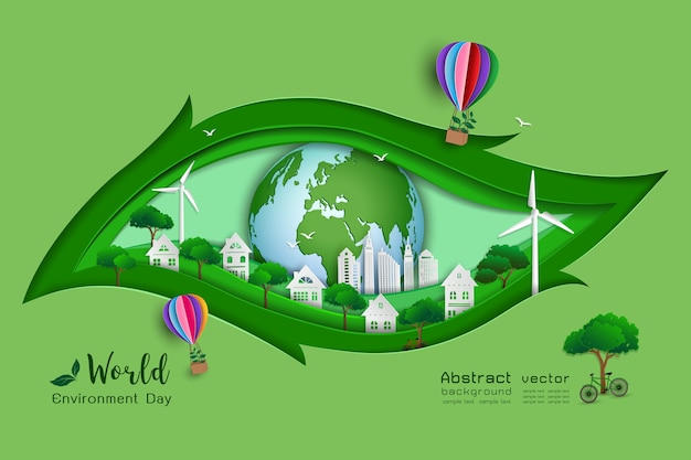 Green eco friendly save the world and environment concept