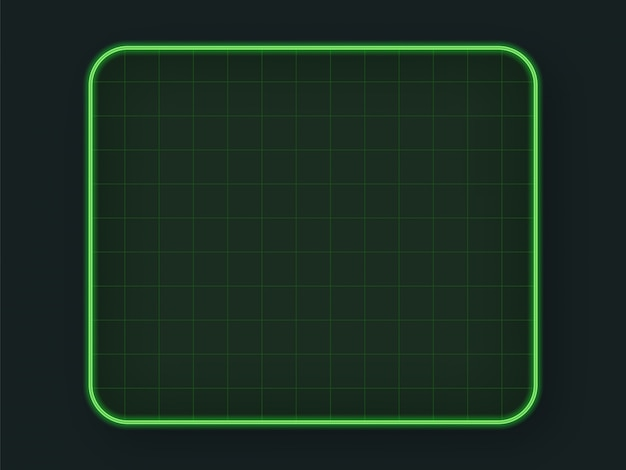 Green tech hud grid