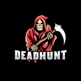 Grim reaper logo gaming mascot