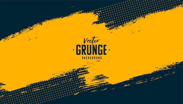 Grunge amarillo abstracto sobre fondo negro