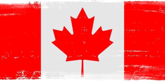 Grunge, bandera, de, canadá