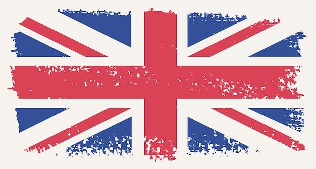 Grunge bandera del reino unido
