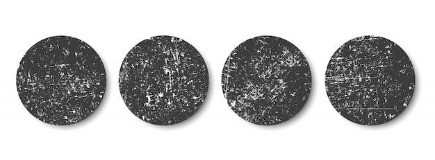 Grunge círculos negros