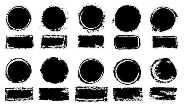 Grunge colección de sellos de correos, círculos.