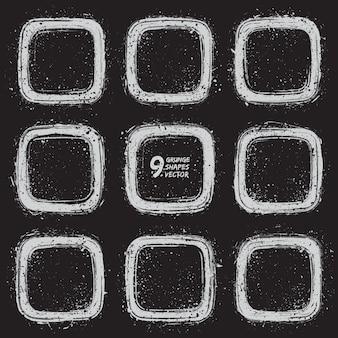 Grunge diseño marcos vector conjunto