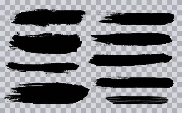 Grunge negro pinceladas ásperas.