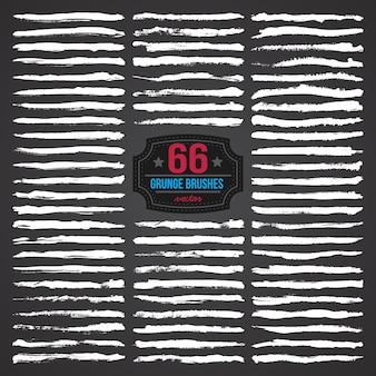 Grunge pinceles para diseño y pintura vector set