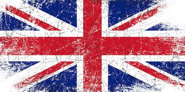 Grunge rayado bandera del reino unido