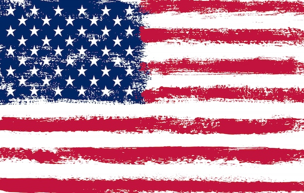 Grunge sucio bandera americana