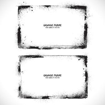 Grunge texturado vector frames