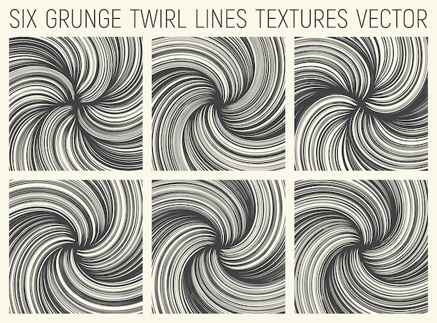 Grunge twirl líneas texturas vector