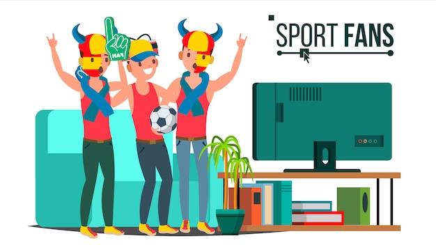 Grupo de aficionados al deporte