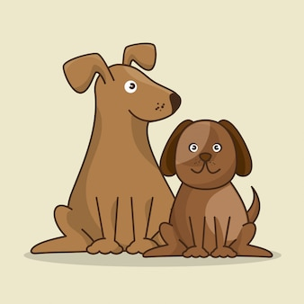 Grupo de animales tienda de mascotas