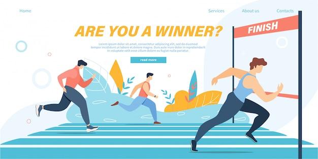 Grupo de atletas sprinter equipo de deportistas maratón corre a distancia o deporte correr