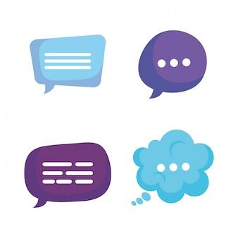 Grupo de burbujas de discurso