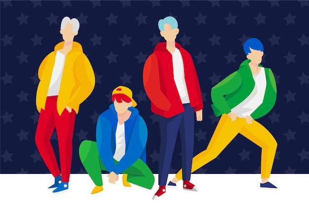 Grupo de chicos de k-pop