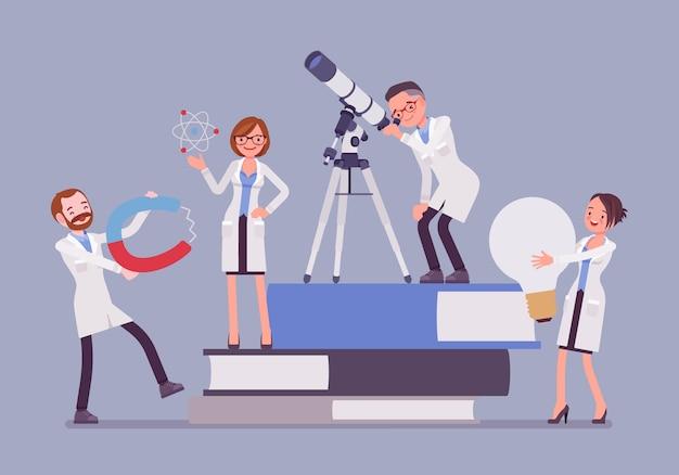 Grupo de científicos investigando