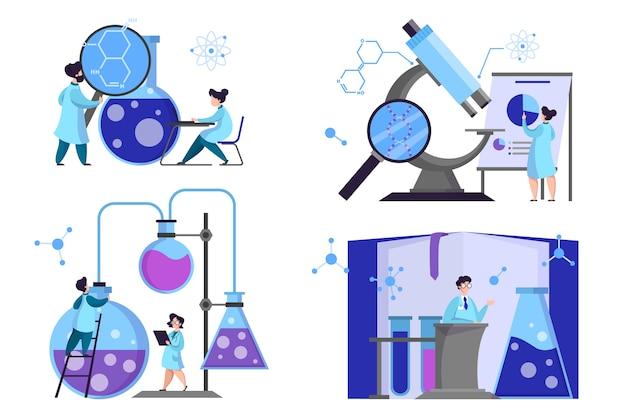 Grupo de científicos que realizan investigaciones médicas. laboratorio