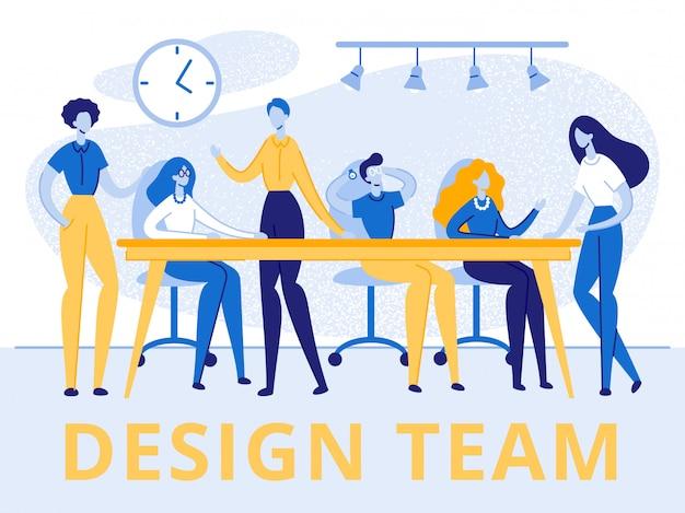 Grupo de equipo de creativos hombres y mujeres banner