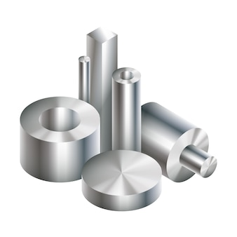 Grupo de forja de objetos metálicos de acero