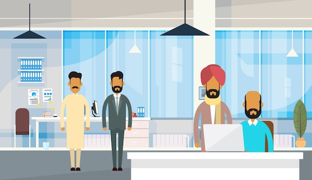 Grupo de gente de negocios india