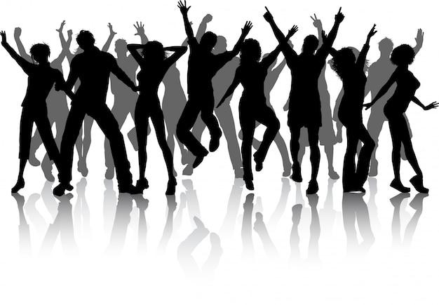 Grupo de gente del partido