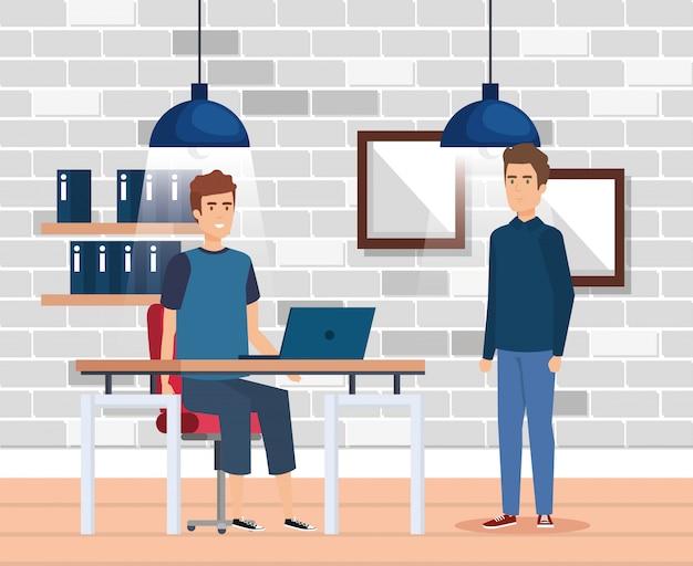 Grupo de hombres en el lugar de trabajo