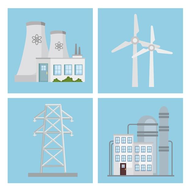Grupo de imágenes prediseñadas de energía alternativa