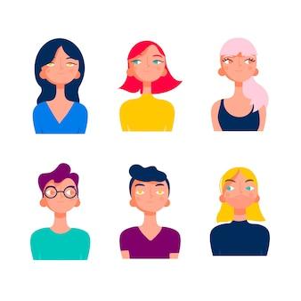 Grupo de jóvenes diversidad
