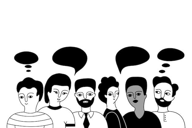 Grupo multicultural de hombres.