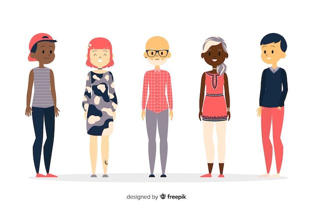 Grupo multiracial de gente