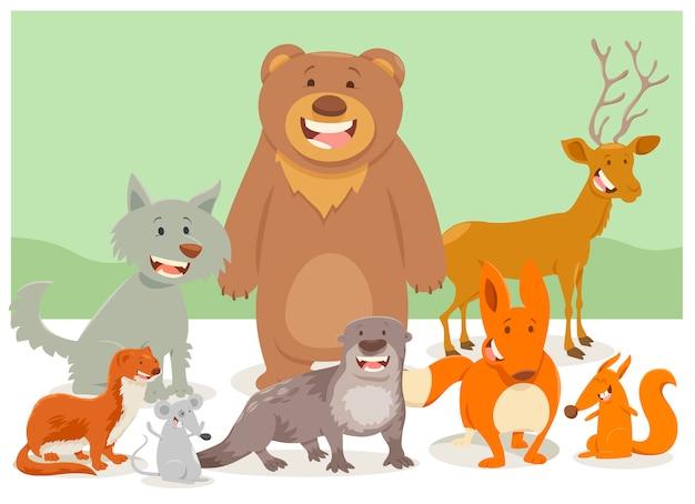 Grupo de personajes de animales salvajes
