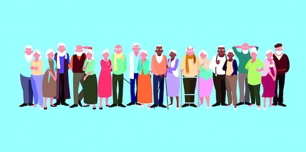 Grupo de personajes de avatar de parejas mayores