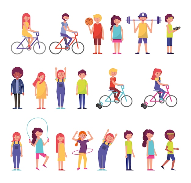 Grupo de personas comunitarias que realizan actividades
